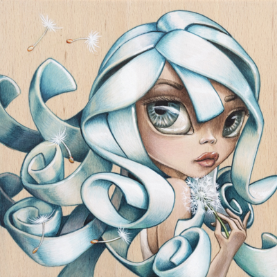 Dandelion dreams upon the breeze